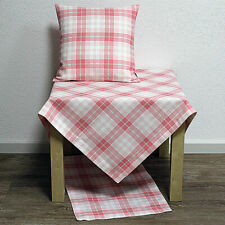 Pillowcase Pillow Cover Olivia Checked Pattern White Pink 40x40cm HOSSNER