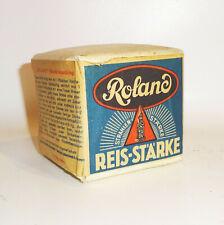 1 kl. Packung Roland Reisstärke Schaupackung Reklame Kolonialladen Deko 1940er