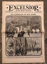 N169 La Une Du Journal Excelsior 5 Août 1914