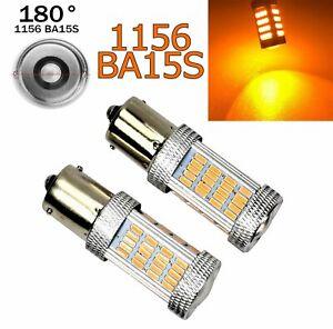 Amber Rear Turn Signal Light 1156 BA15S P21W 7506 3497 1141 92 LED Bulb A1 GM LA