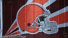 Cleveland Browns Helmet High Quality Banner Flag New 3x5 ft nfl au