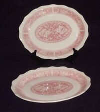 "2 Syracuse China Rare Strawberry Hill  Oval serving platter plate  12"" USA nice"