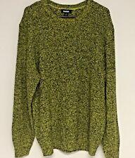 """KINGSIZE Men's Big & Tall Knit CREWNECK Sweater 2XLT Green Black """"IRISH"""" Tweed"""