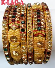 Lakh Bollywood Indian Ethnic Bangles WEDDINGJewellery Bridal  Bracelet SIZE 2.10