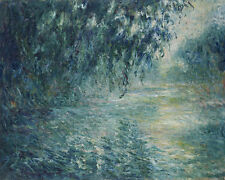 Morning on the Seine Claude Monet Fluss Frankreich Baum Morgen Wasser B A3 01259