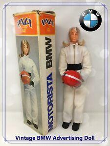 🏍 1970's BMW Motorista Advertising Blonde Driver Promotional Doll by PAYA  🏎