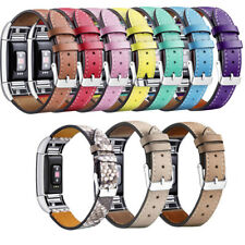 Soft Genuine Leather Replacement Wrist Band Bracelet Loop For Fitbit Charge 2 HR