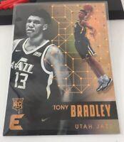 Tony Bradley Rookie Card Utah Jazz #93 Panini Essentials 2017-18 Gold
