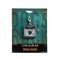 Dogs Rock Chihuahua Dog Charm with Lobster Clasp - Double-Sided