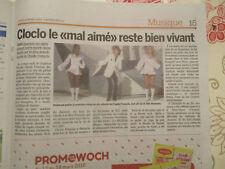 CLOCLO CLAUDE FRANCOIS - 40 ANS déjà - lot de 2 journaux - BELGIQUE & LUXEMBOURG