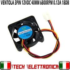 VENTOLA 12V 3Pin 40x10mm 26dB 6512RPM 100mA ventola di raffreddamento 4010