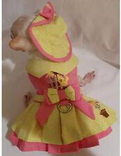 Little Chick 4 Piece Harness Dress Set/Dog clothes/dog dress/chihuhaua/xs,s,m,l
