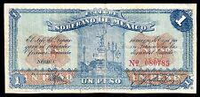 Estado Libre y Soberano de Mexico 1 Peso 3.01.1915 M2812a / SI-MEX-12 VF Small C