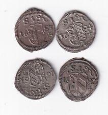 Nürnberg Pfennig 1681, 1682, 1683 und 1684 hübsch nsw-leipzig