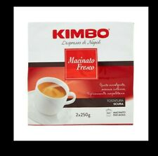 CAFFE' 2X250GR MACINATO FRESCO KIMBO TOSTATURA SCURA