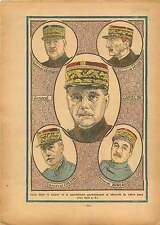 Portrait General Gamelin/Georges/Bineau/Colson/Hure France 1935 ILLUSTRATION