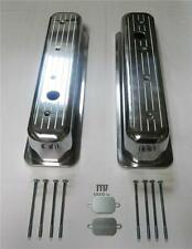 Small Block Chevy SBC Tall Center Bolt Ball Milled Polished Valve Covers