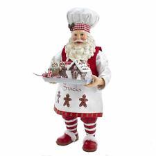 Kurt Adler Fabriché Gingerbread Chef Santa Claus FA0104 Christmas Figurine