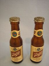 """PAIR OF SCHLITZ MINI BEER BOTTLE SALT AND PEPPER SHAKERS, GOOD CONDITION, 4"""""""