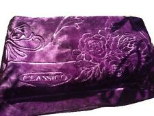 Solaron blanket throw Classic purple Korean Thick Mink Plush embossed king size