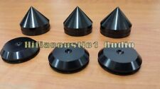 3spike+3Pad Speaker Isolation Base Foot Feet Spike Cone Stand 33mm