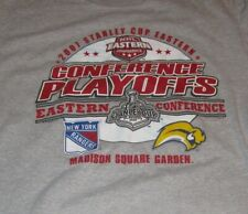 2007 BUFFALO SABRES vs NEW YORK RANGERS Playoffs (LG) T-Shirt RYAN MILLER