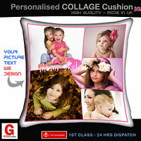 Personalised Cushion Cover Photo printed custom made photo & text Cushion Gift