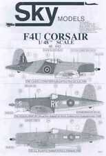 Sky Models Decals 1/48 FOREIGN VOUGHT F4U CORSAIR Fighters