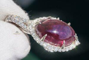 Tourmaline Pendant Diamond Gold Necklace Natural 16.28CTW GIA Cert RETAIL $10200