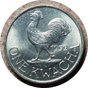 elf Malawi 1 Kwacha 1992 Rooster