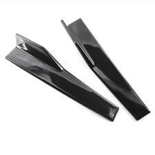 2PC Car Bumper Winglet Spoiler Rear Lip Side Skirt Extension Canard Diffuser Kit