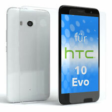 Schutz Hülle + Panzerglas f. HTC 10 Evo Handy Case Cover Silikon