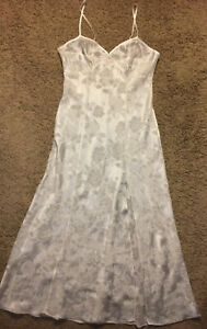 Women's Victoria's Secret Off White Floral / Sheer Nightgown ~ Size M