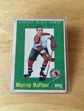 Topps hockey 1959-60 Murray Balfour Chicago Blackhawks card # 33