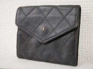 Chanel Bicolore Coin Case Coin Purse Black Hardware gold Authentic woman #4661P