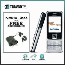 ⭐⭐ Nuevo Nokia 6300 Plata (Desbloqueado) Cámara Bluetooth Teléfono Móvil Clásico Nokia ⭐