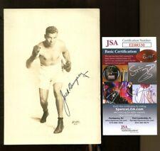 Jack Dempsey Signed Photo 5x7 Autographed Boxing JSA EE08530