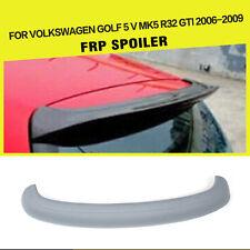 Grey FRP Rear Roof Spoiler Wing Lip fit for VW Golf 5 V MK5 GTI R32 2006-2009