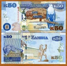 Zambia, 50 Kwacha, 2012 (2013), P-New, UNC > New Revalued Currency
