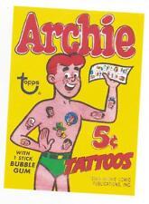 Archie  Bubble Gum Tattoos Retro Vintage HQ  Fridge Magnet