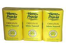 Heno de Pravia Natural Bath Soap 3 pack - New in Box