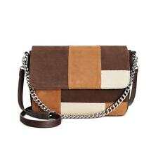 Giani Bernini 8125 Womens Brown Leather Suede Crossbody Handbag Purse Large BHFO