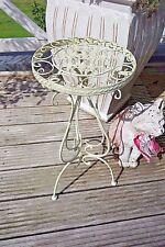 Shabby Blumentisch Beistelltisch Telefontisch Weiß Schmiedeeisen 59 cm Retro NEU