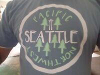 Seattle Washington Pacific Northwest  Stonewashed blue adult Tee T-Shirt large