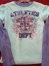 Original Arizona Jean Co. Girls Shirt Med 10/12 White & Purple!