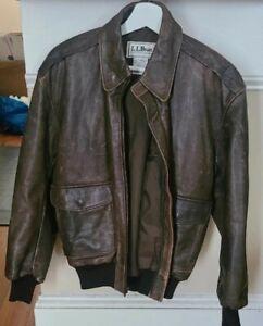 Vintage L.L.BEAN leather jacket sz 34