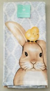 Ritz 2 Pack Plush Bunny & Chick Kitchen Towels - Easter ~ NEW