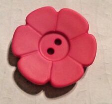DILL BUTTONS #114546 PINK FLOWERS--28MM- 6 PIECES
