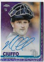 2019 Topps Chrome Baseball Rookie Autograph Nicholas Ciuffo Purple 129/250