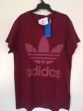 Adidas Oeigianlas Women BIG TREFOIL Tee Shirt BR9742 N W T Extra Small